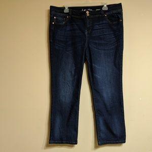 Inc denim jeans straight leg regular/crop size 16